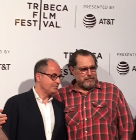 Pappi Corsicato, director, and Julian Schnabel, Tribeca Film Festival 2017, premiere of <em>Julian Schnabel: A Private Portra