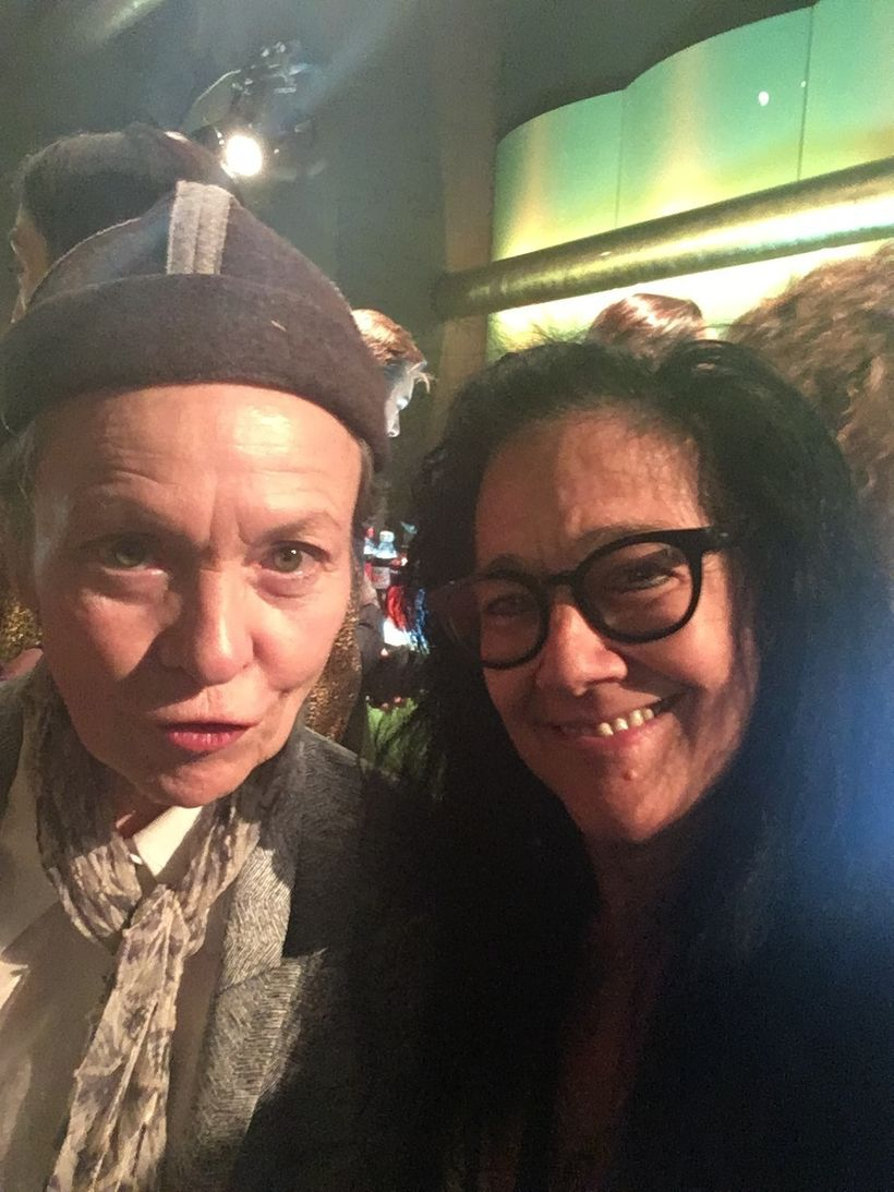 Laurie Anderson at premiere of J<em>ulian Schnabel -- A Private Portrait</em>, April 2017