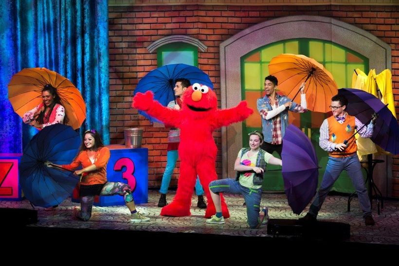 Elmo Jumping in Puddles scene during Sesame Street Live! Let's Party!