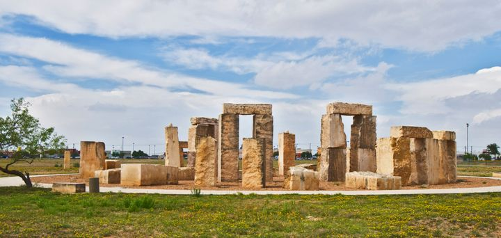 Stonehenge replica on grounds of University of Texas of the Permian Basin.