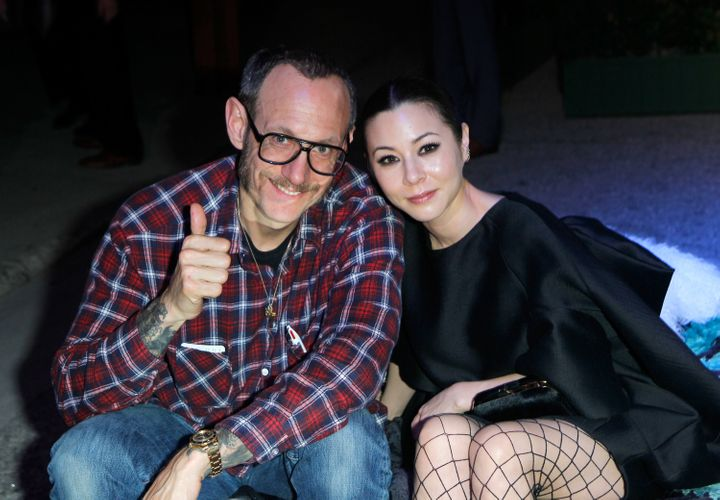 """Terry Richardson and model China Chow attend """"Yesssss!"""" MOCA Gala 2013."""