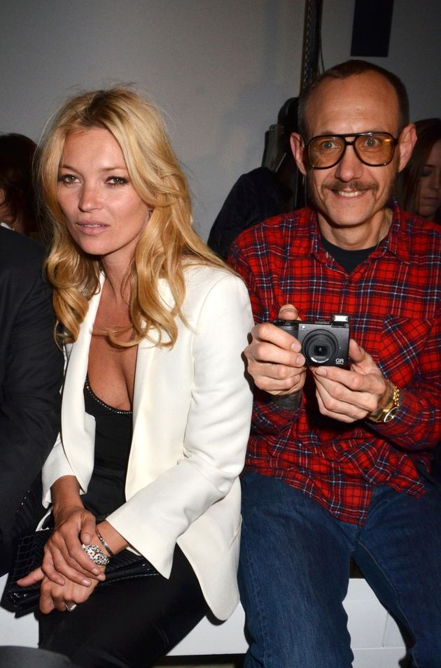 Kate Moss and Terry Richardson attend the Mango New Collection Presentation at Centre Pompidou on...