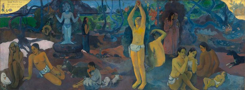 Paul Gaugin, <em>Where do we come from? What are we? Where are we going?</em>, 1897-98, Museum of Fine Arts Boston