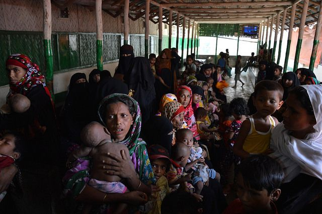 Photo taken on May 19, 2013, in Bangladesh, at a European Commission funded clinic that serves both the refugees and the loca