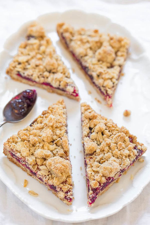 "<strong>Get the recipe for <a href=""https://www.averiecooks.com/2016/11/cranberry-oatmeal-crumble-bars.html"" target=""_blank"">"