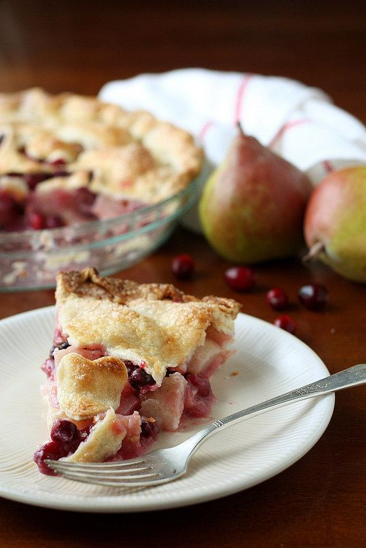 "<strong>Get the recipe for <a href=""http://www.completelydelicious.com/cranberry-pear-pie/"" target=""_blank"">Cranberry Pear Pi"
