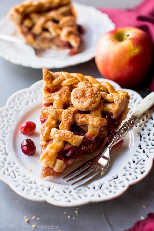 "<strong>Get the recipe for <a href=""https://sallysbakingaddiction.com/2016/11/03/apple-cranberry-pie/"" target=""_blank"">Apple"