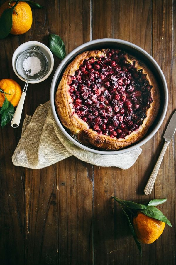"<strong>Get the recipe for <a href=""http://www.hummingbirdhigh.com/2014/12/cranberry-ginger-and-satsuma-clafoutis.html"" targe"