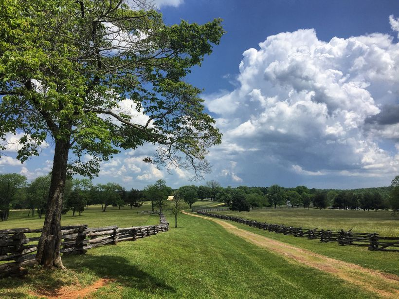The road to Appomattox Court House is virtually unchanged from the way it looked in April 1865.
