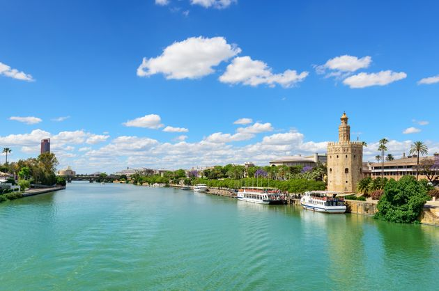 The Guadalquivir River and the Golden Tower, a military lookout
