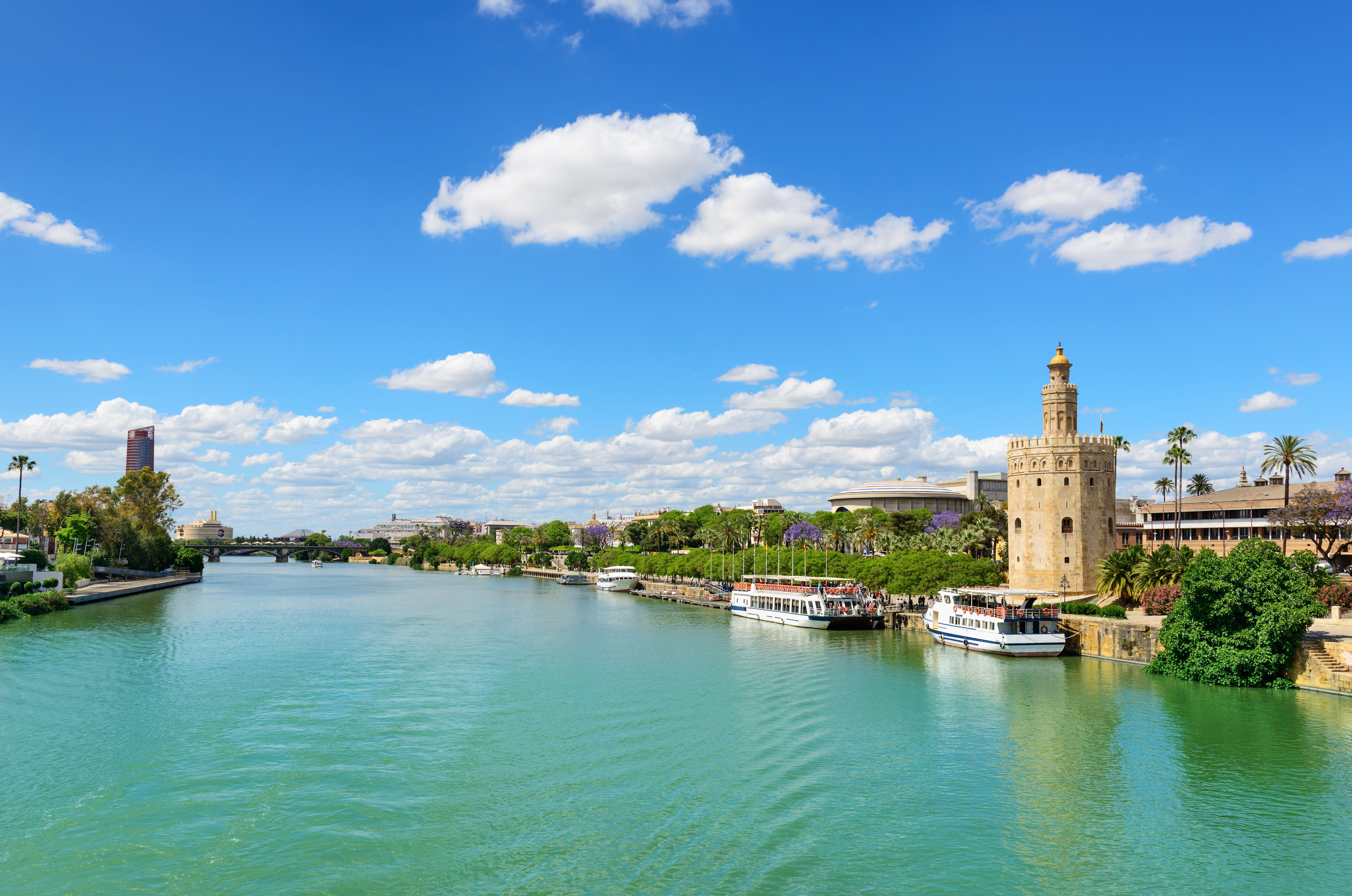 The Guadalquivir River and the Golden Tower, a militarylookout spot