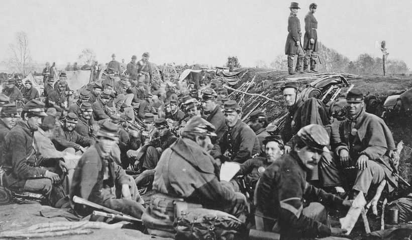 The Union trenches around Petersburg 1865