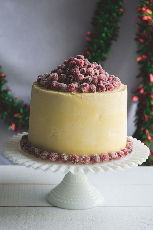 "<strong>Get the recipe for <a href=""https://www.pineappleandcoconut.com/recipes/christmas-white-chocolate-cranberry-layer-cak"