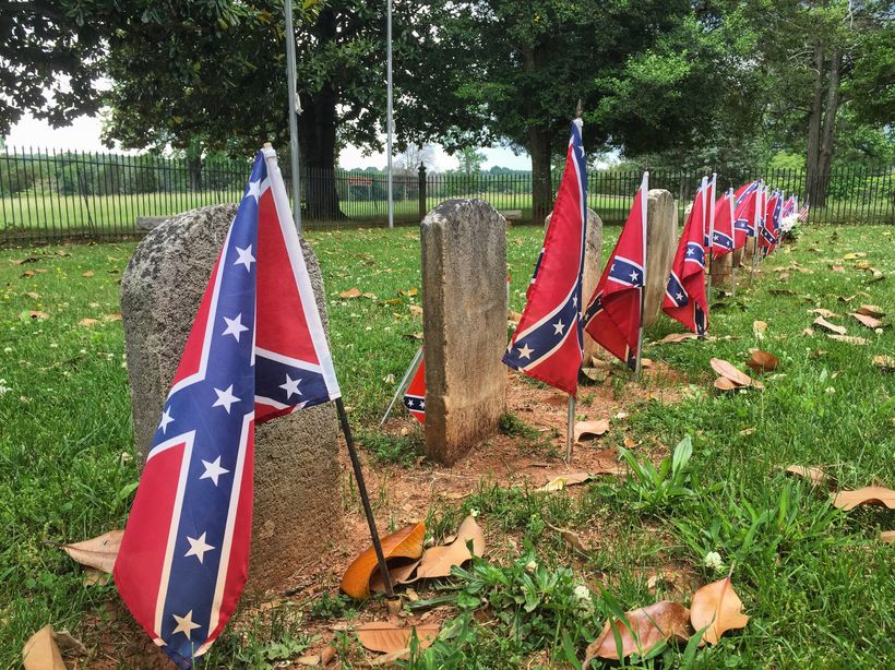 Eighteen Confederates and one Union soldier who all had the bad luck of being the last killed in battle on this front are bur
