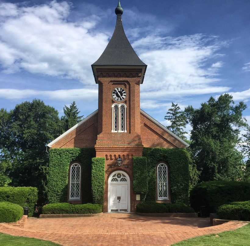 The Lee Chapel in Lexington, VA where both Lee and his horse Traveller are buried.