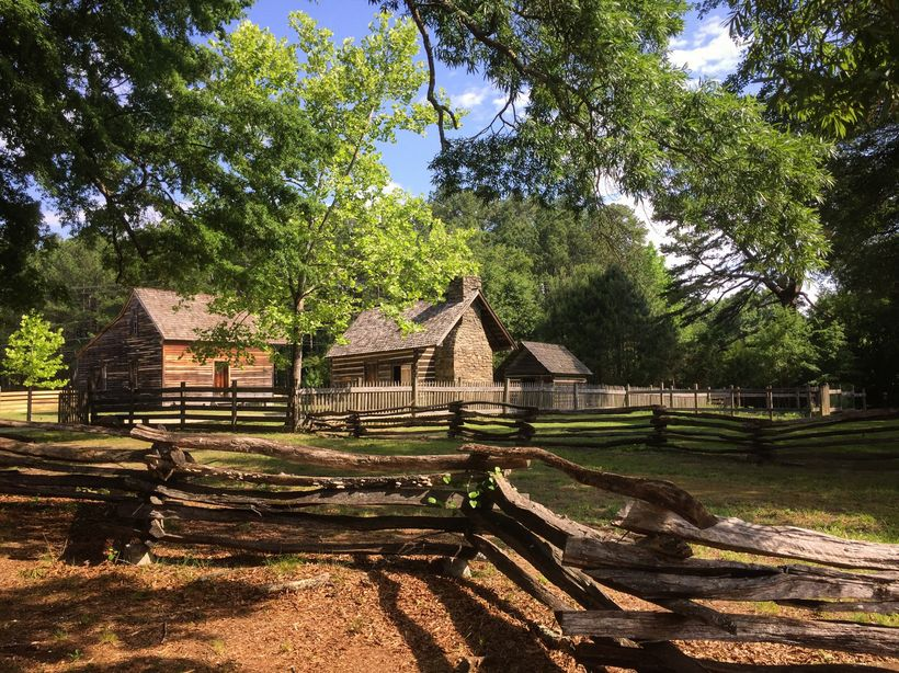 Pretty and unchanged Bennett Place near Chapel Hill, NC is where Joe Johnson surrendered to William Techcumsa Sherman.