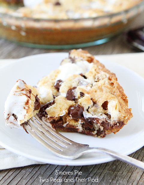 """<strong>Get the<a href=""""http://www.twopeasandtheirpod.com/smores-pie/"""" target=""""_blank"""">S'mores Pie recipe</a>&nbs"""