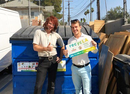 Vintage King Audio in Echo Park increased its recycling rate to 90% and its trash bill was cut in half.