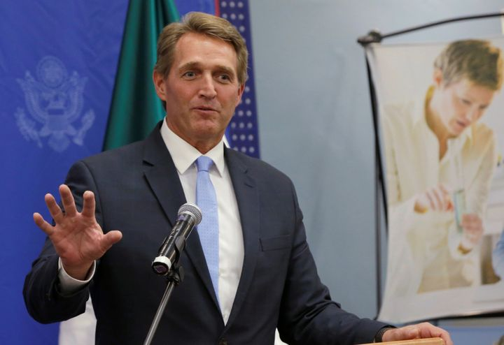 Sen. Jeff Flake said he feels out of step with today's GOP.