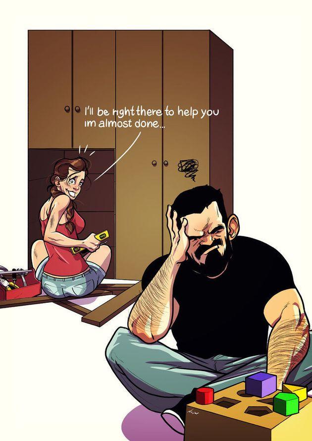 Os hábitos mais peculiares da vida de um casal estão retratados neste