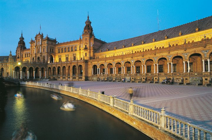 Plaza de Espana at sunset