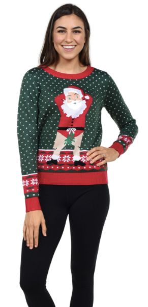 "The fine people who made this sweater want you to know that you can <a href=""https://www.tipsyelves.com/womens-face-swap-swea"