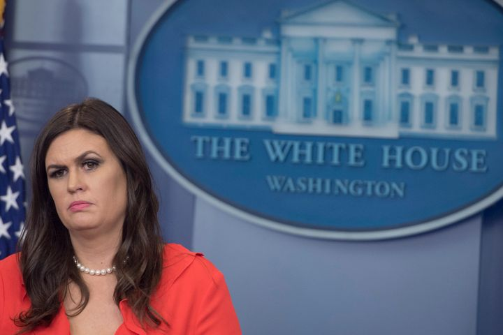 At Tuesday'sbriefing, White House Press Secretary Sarah Huckabee Sandersdefended President Trump by citing the po