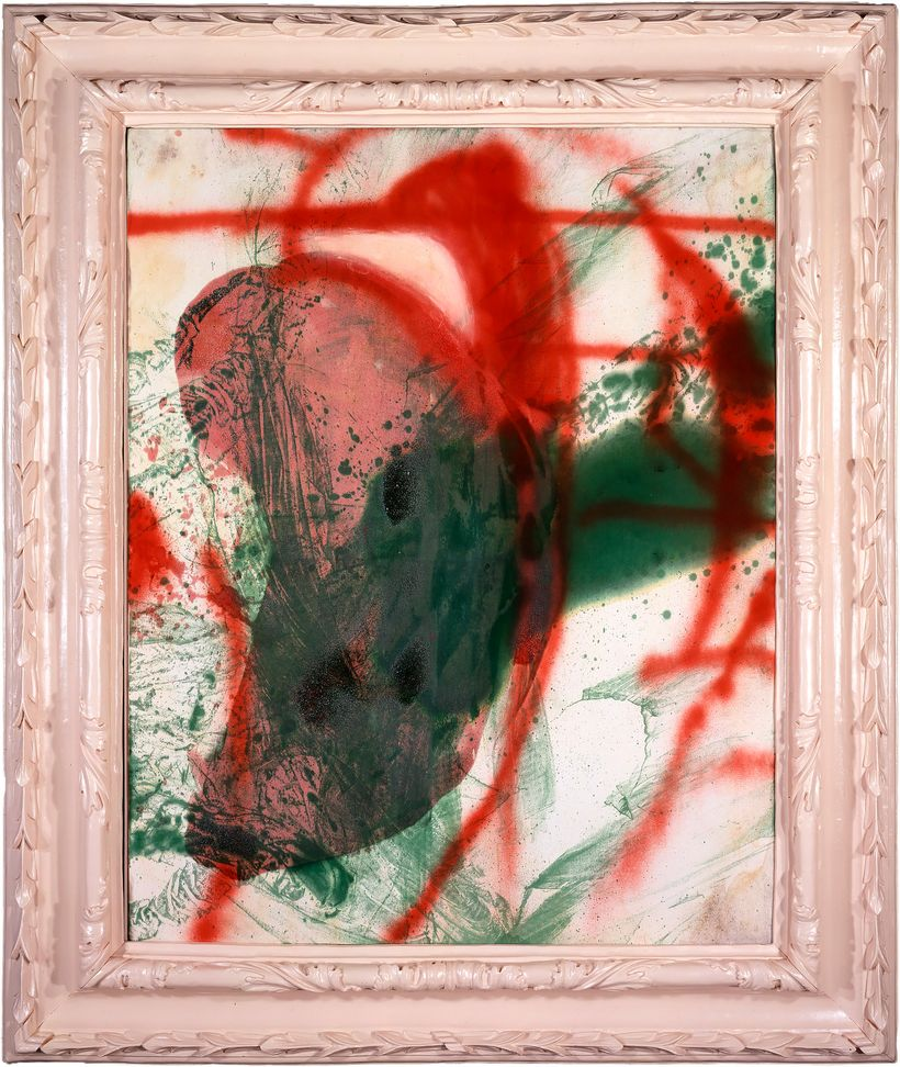 <strong>Julian Schnabel </strong><em>Harold's always saying goodbye (#4)</em>, 1998 oil, spray paint, resin on canvas79 x