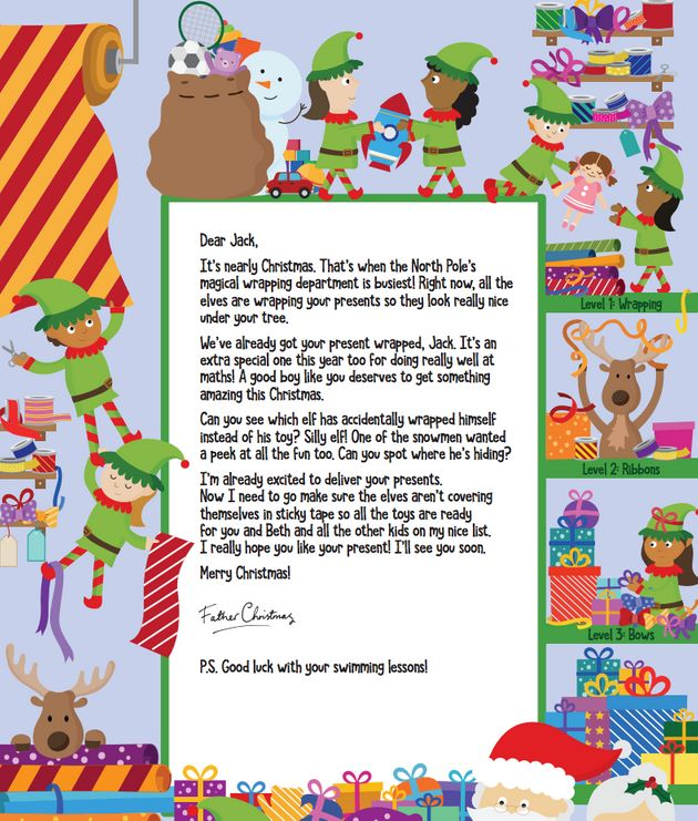 Letters from santa your child can get a note from father see also spiritdancerdesigns Image collections