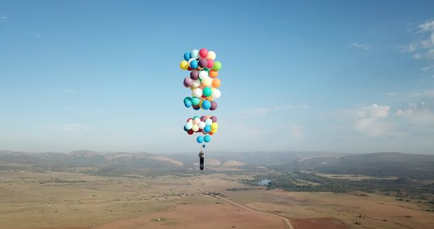 Man Flies Across South Africa Powered By 100 Helium