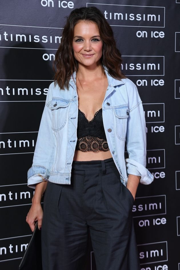 Katie Holmes attends Intimissimi On Ice on Oct. 6, 2017 in Verona,