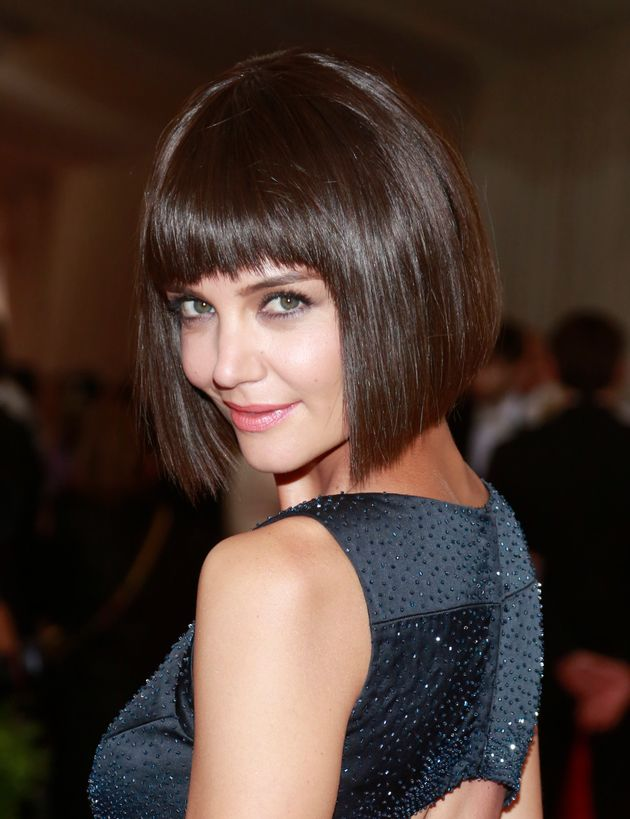 Katie Holmes arrives for the Metropolitan Museum of Art Costume Institute Gala 2015 celebrating the opening...