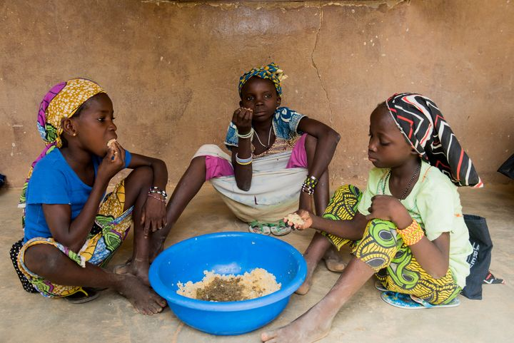 Catholic Relief Services feeds impoverished school children in Mali with funding from the McGovern-Dole program.
