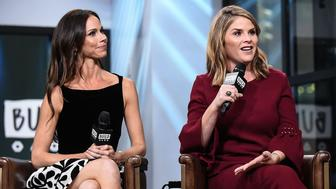 NEW YORK, NY - OCTOBER 24: Barbara Pierce Bush and Jenna Bush Hager attend the Build Series to discuss the new book 'Sisters First: Stories from Our Wild and Wonderful Life' at Build Studio on October 24, 2017 in New York City.  (Photo by Daniel Zuchnik/WireImage)