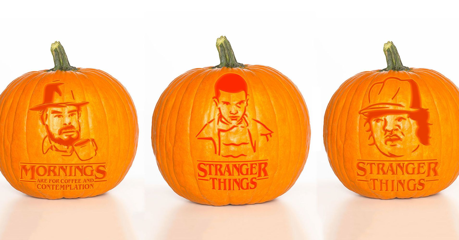 these 4 39 stranger things 39 pumpkin carvings will mix up your halloween huffpost. Black Bedroom Furniture Sets. Home Design Ideas