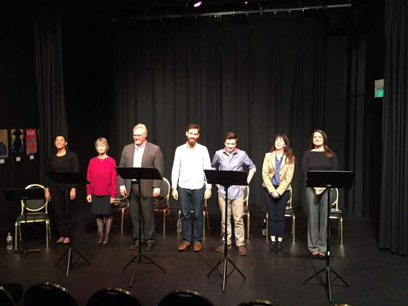 The cast of actors who performed a reading of <strong><em>Adonis</em></strong> during the 2017 San Francisco Olympians Festiv
