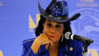 MIAMI, FL - OCTOBER 19: Rep. Frederica Wilson (D-FL) listens to testimony at a Congressional field hearing on nursing home preparedness and disaster response October 19, 2017 in Miami, Florida. The hearing comes in the wake of fourteen patient deaths at the Rehabilitation Center at Hollywood Hills, Florida, which lost power after Hurricane Irma struck Florida. The nursing home deaths remain under police investigation.  (Photo by Joe Skipper/Getty Images)