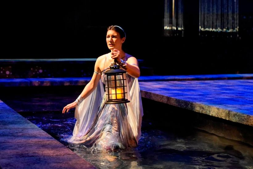 Alcyone (Peyton Victoria) searches for her lost love, Ceyx, in a scene from <strong><em>Metamorphoses</em></strong>