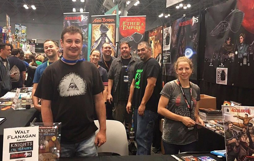 Walt Flanagan and the Blue Juice Comics team.