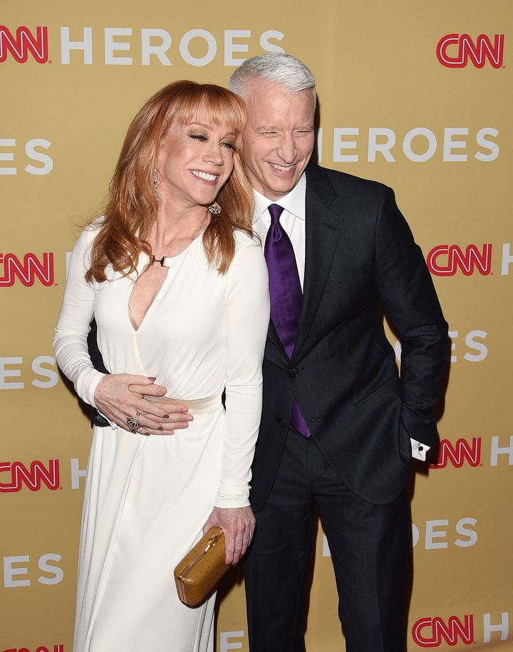 Kathy Griffin and Anderson Cooper in 2014.