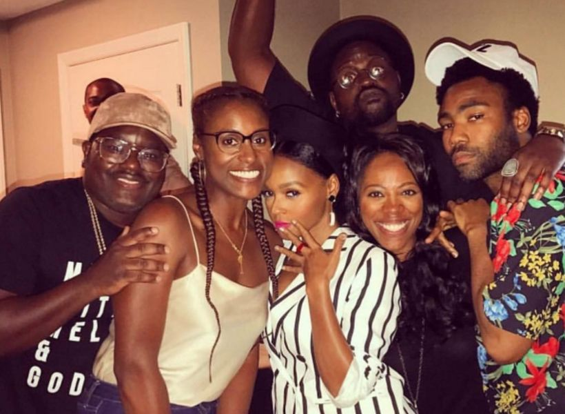 <strong>Yvonne Orji and Issa Rae gathering with their other prosperous and talented friends: Donald Glover</strong>, <strong>