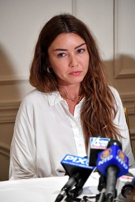 NEW YORK, NY - OCTOBER 24:  New alleged victim of Harvey Weinstein, Mimi Haleyi (L) speaks at a press conference held by Attorney Gloria Allred  at Lotte New York Palace on October 24, 2017 in New York City.  (Photo by Mike Coppola/Getty Images)