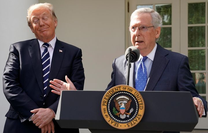 President Donald Trump and Senate Majority Leader Mitch McConnell (R-Ky.), putting tax reform before just about anything