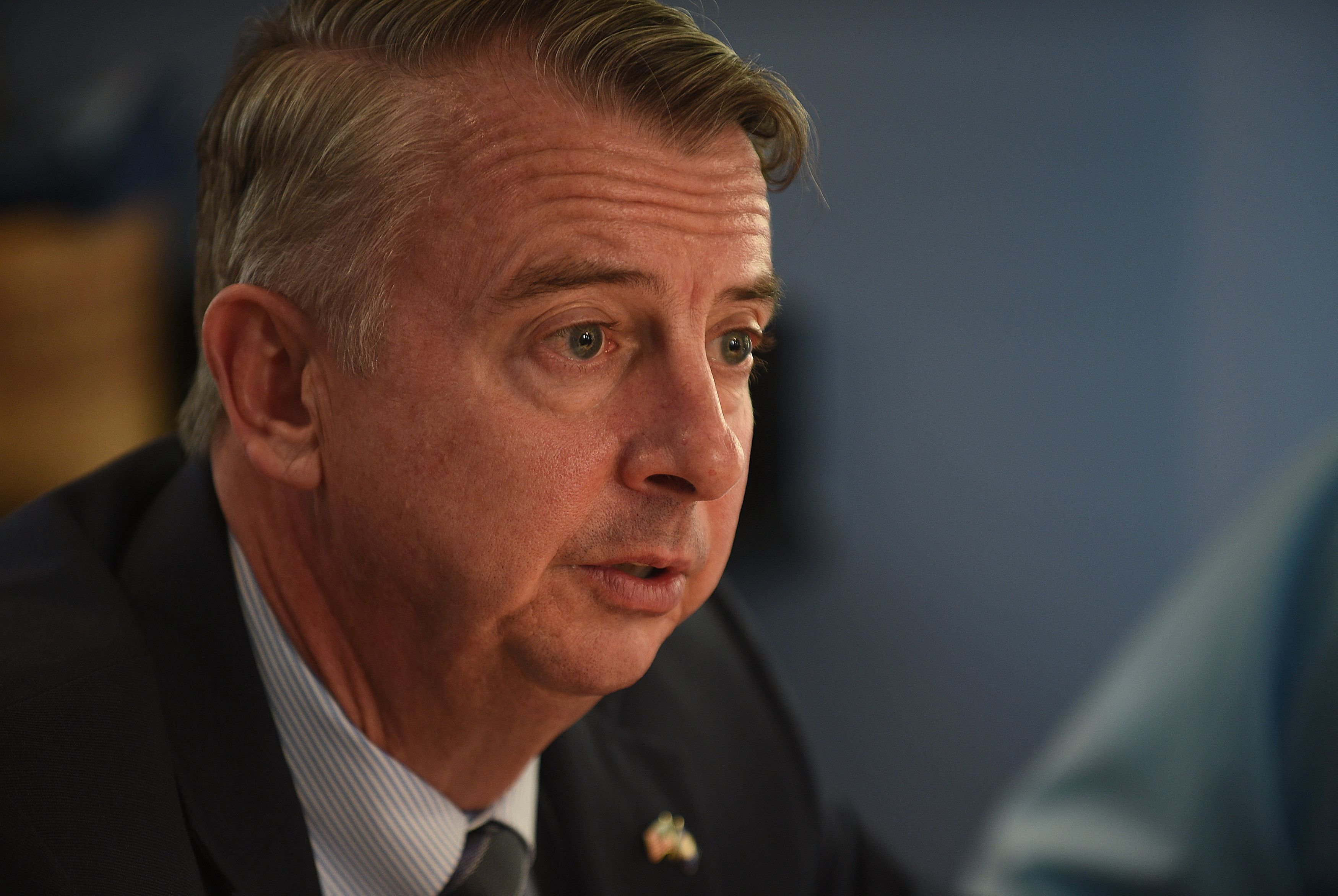 An ad from Virginia GOP gubernatorial candidate Ed Gillespie accuses Democrats in the state of jeopardizing public safet
