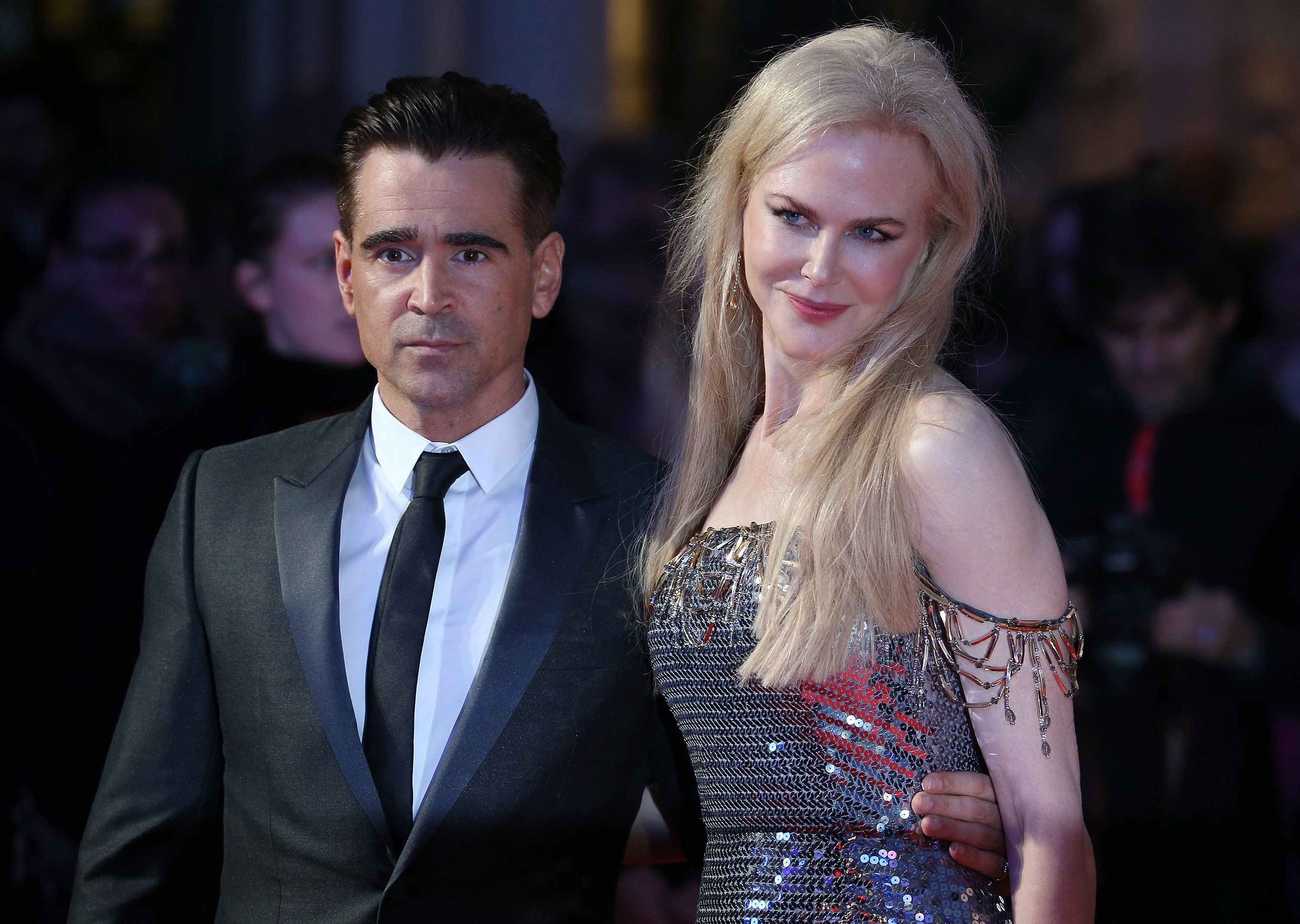 LONDON, ENGLAND - OCTOBER 12:  Colin Farrell and Nicole Kidman attend the Headline Gala Screening & UK Premiere of 'Killing of a Sacred Deer' during the 61st BFI London Film Festival on October 12, 2017 in London, England.  (Photo by Fred Duval/FilmMagic)