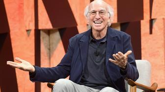 BEVERLY HILLS, CA - OCTOBER 04:  Larry David speaks onstage during Vanity Fair New Establishment Summit at Wallis Annenberg Center for the Performing Arts on October 4, 2017 in Beverly Hills, California.  (Photo by Matt Winkelmeyer/Getty Images)