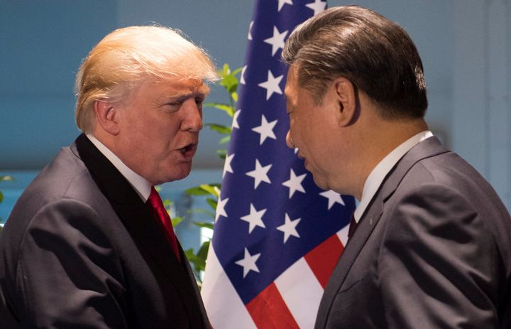 U.S. President Donald Trump and Chinese President Xi Jinping at the G20 Summit in Hamburg, Germany, on July 8, 2017.