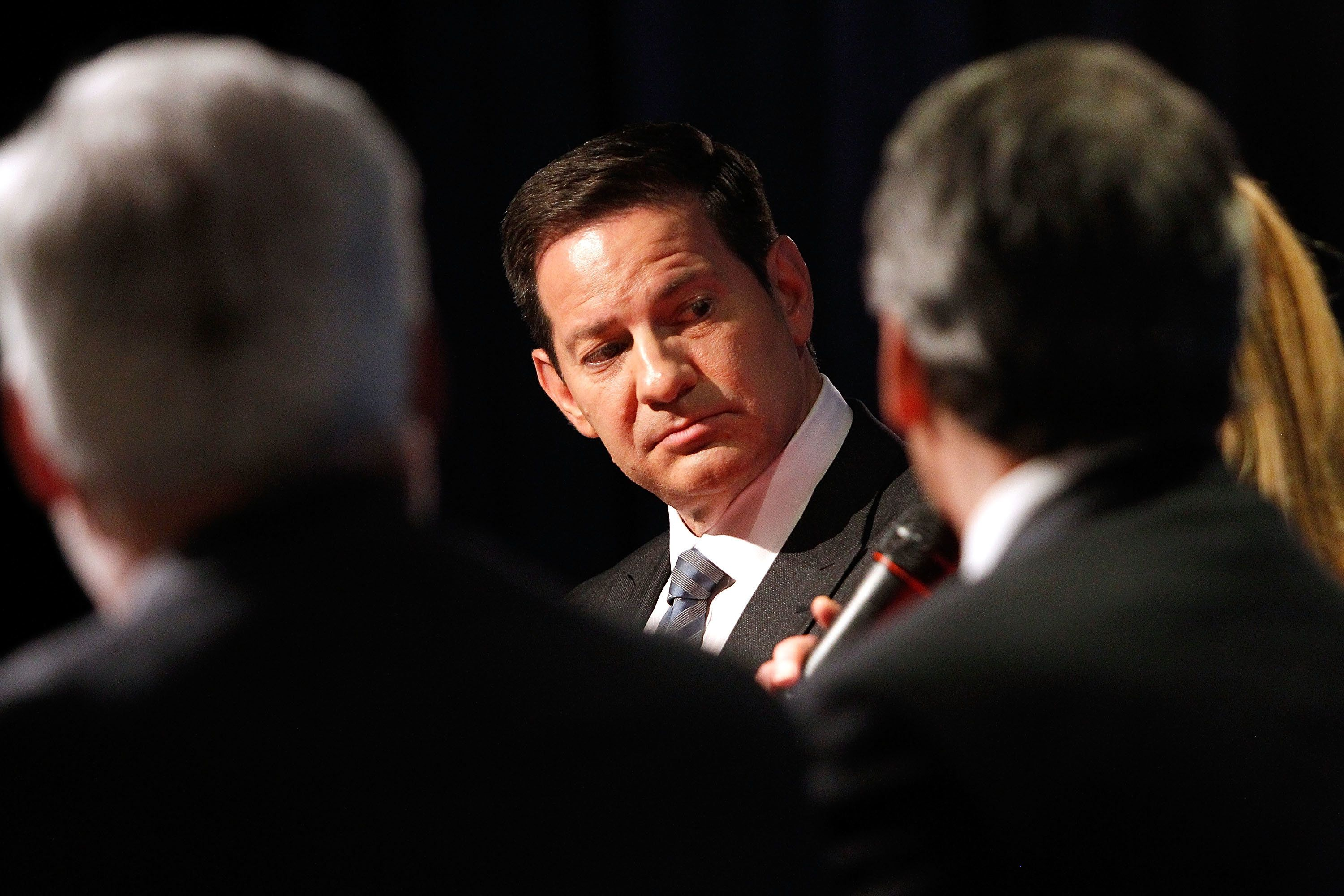WASHINGTON, DC - MAY 03:  Mark Halperin (C) from Showtime's 'The CircusÕ participates in a panel discussion at the Showtime-presented finale reception and discusson of the second season of THE CIRCUS: INSIDE THE BIGGEST STORY ON EARTH at The Newseum on May 3, 2017 in Washington, DC.  (Photo by Paul Morigi/Getty Images for Showtime)
