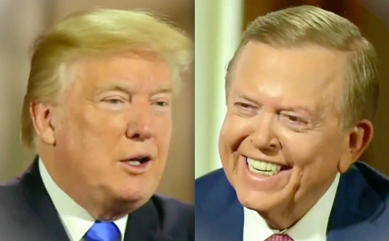 Donald Trump and Lou Dobbs