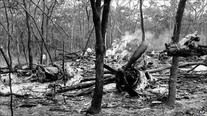 1961 Crash site in  Ndola,  Northern Rhodesia (now Zambia)
